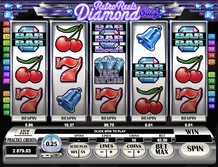 Try Retro Reels - Diamond Glitz Slots With No Registration